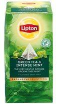 Lipton thee, Groene Thee Munt, Exclusive Selection, doos van 25 zakjes