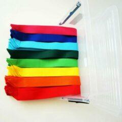 Leba Partijlinten | Partijlint | 80 linten in doos | 8 Verschillende Kleuren | Lintjes
