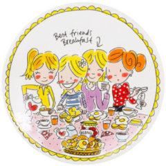 Witte Blond Amsterdam ontbijtbord Even Bijkletsen (Ã22 cm)