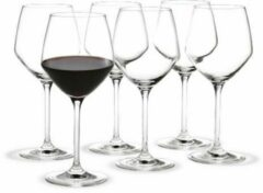 Transparante Holmegaard Perfection set van 6 red wine glass 43cl