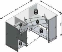 FMD - Computertafel Felix - 118 cm - Bruin