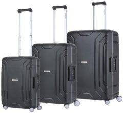 CarryOn Steward Kofferset - 3 delige TSA Trolleyset - Koffers met vaste kliksloten - Zwart