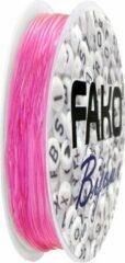 Fako Bijoux® - Elastisch Nylon Draad - Sieraden Maken - 0.6mm - 9 Meter - Roze