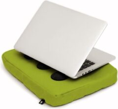 Groene Bosign laptopkussen, laptop kussen, laptop schootkussen, laptop standaard, met siliconen doppen voor warme luchtafvoer - Lime