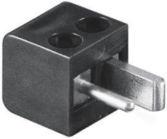Zwarte Loudspeaker connector mannelijk zwart - schroefbaar