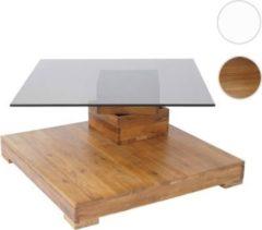Heute-wohnen MCA Couchtisch HL Design Amadeo, Wohnzimmertisch, Wildeiche massiv 40x80x80cm