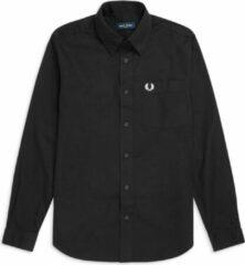 Zwarte Fred Perry Button Down Shirt Button Down Shirt Heren Overhemd Maat S