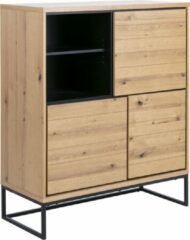 Fyn David dressoir 3 deuren, 1 plank eiken, zwart.