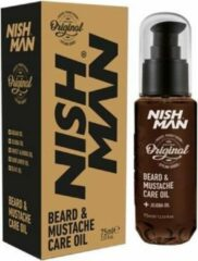 Nish Man- Beard & Mustache Care Oil   Baard en Snor Verzorgende Olie   Hair Care   75 ml   Professional Beard Care
