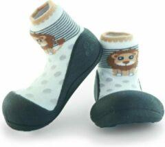 Attipas ZOO zwart babyschoenen, ergonomische Baby slippers, slofjes maat 21,5, 12-24 maanden
