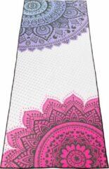 Fuchsia JAP Sports Yoga handdoek - Anti slip sport matje - Bescherming voor de yoga mat - Inclusief opbergtas - Fuchia