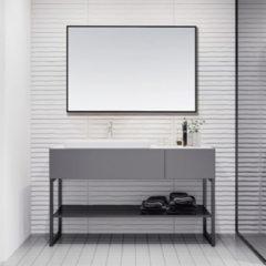 Douche Concurrent Badkamerspiegel Riva 80x60 Zwart Aluminium Lijst