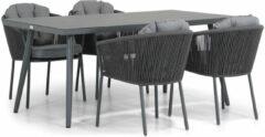 Antraciet-grijze Santika Furniture Santika Novita/Valencia 170 cm dining tuinset 5-delig
