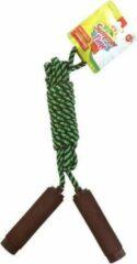 Summertime Springtouw zwart/groen 390 cm met foam handvatten - Buitenspeelgoed - Sportief speelgoed voor kinderen en volwassenen