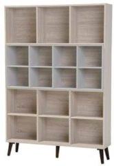 Beliani Alloa Boekenkast Licht houtkleur Verlijmd hout