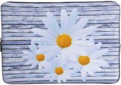 Misstella Laptop Sleeve met bloemen tot 13.3 inch – Grijs