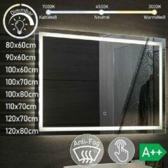 Aquamarin LED Badkamer spiegel 80x60 cm dimbaar, anticondensfunctie