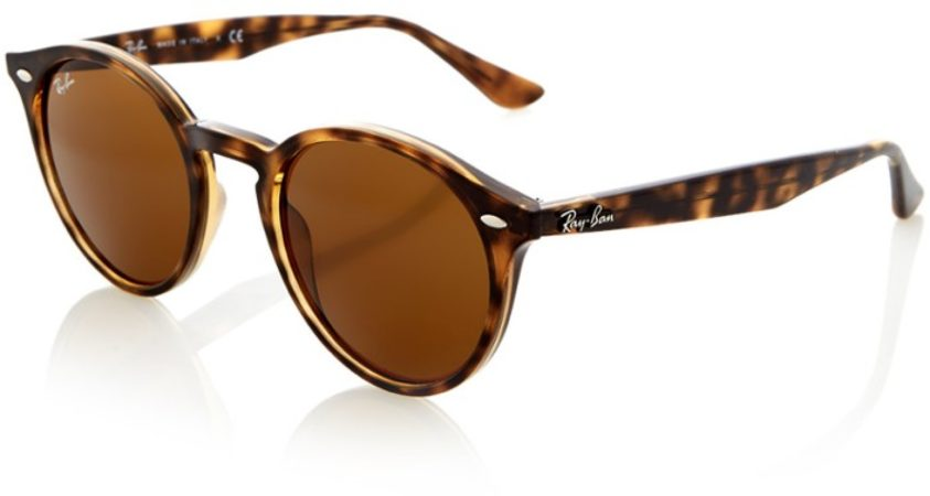 Afbeelding van Bruine Ray-Ban Men's Round Frame Sunglasses - Dark Havana