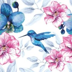 Daisy - Servetten - 33 x 33 - lunchservetten - Serie Blue Hummingbird