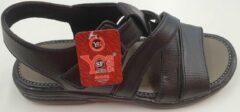 S.F. Shoes Heren Sandalen Heren Wandelsandalen Zwart Maat 42