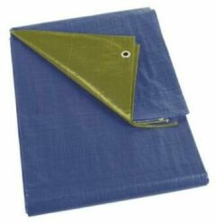 Perel Dekzeil - Blauw/Groen - Basic - 4 X 5M