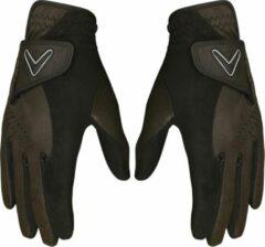 Zwarte Callaway Opti Grip regen handschoenen - Dames S