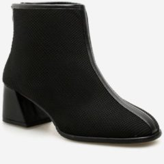 Rosegal Chunky Heel Mesh Ankle Boots