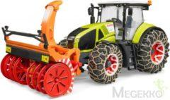 Rode Bruder 03017 - Claas Axion 950 tractor met sneeuwkettingen en sneeuwblazer