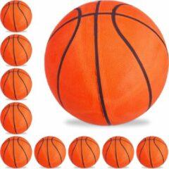 Relaxdays 10x basketbal maat 7 - straatbal - binnen en buiten - trainen - oranje