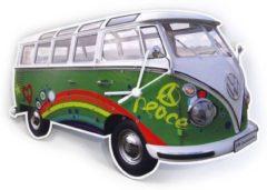 Groene Brisa Wandklok Volkswagen T1 bus Bulli - Kleur - Groen