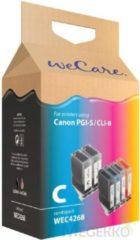 Blauwe WeCare Cartridge combipack zwart + kleur (6 stuks)
