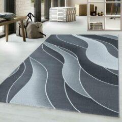 COSTA Impression Flow Design Laagpolig Vloerkleed Grijs- 140x200 CM