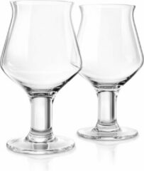 Final Touch - Set of 2 Craft Beer Glasses 600ml Ale Stemmed Glass
