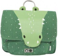Trixie boekentas Mr Crocodile junior 29 x 25 cm katoen groen