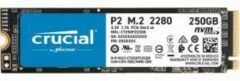 Crucial P2 250 GB NVMe/PCIe M.2 SSD 2280 harde schijf PCIe NVMe 3.0 x4 CT250P2SSD8