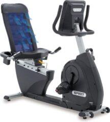 Grijze Spirit Fitness XBR25 Hometrainer Ligfiets - Uitstekende Garantie - Professioneel Cardio Toestel / Apparaat / Machine - Geschikt voor Beginnende & Ervaren Sporters