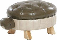 Beliani Turtle Hocker Kunstleer 43 X 73 Cm