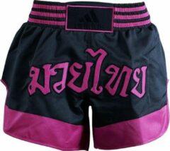 Adidas Kickboksbroek Zwart/roze Unisex Maat L