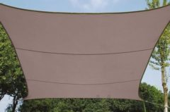 Merkloos / Sans marque Schaduwdoek - Zonnezeil - Vierkant 3.6 X 3.6 M, Kleur: Taupe