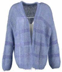 Aaiko blauw oversized vest met pailletten - valt ruim - Maat M/L