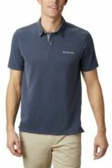 Blauwe Polo Shirt Korte Mouw Columbia NELSON POINT POLO