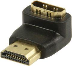 Zwarte Nedis Compacte HDMI adapter - 90° haaks naar beneden - versie 1.4 (4K 30Hz)