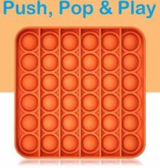 Play It POP IT® Fidget Toys - Pop It - Vierkant Oranje - Pop It Fidget Toy - Fidget Toys Pop It - Fidget Toys Pakket - PlayStation 5 - Simple Dimple - Fidget Speelgoed - Goedkoop - Oranje
