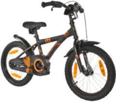 Zwarte PROMETHEUS BICYCLES® Hawk Fiets 16´´, matzwart-oranje