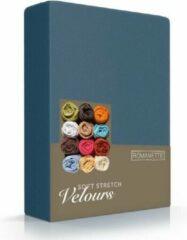 Blauwgroene Fluweel Zachte Hoeslaken Velours Eenpersoons Teal | 80/90/100x200/210/220 | Comfortabel En Luxe | Rondom Elastiek