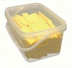 Knudsen Keile platte spie / wig geel 100x22x5mm (150 stuks in box)