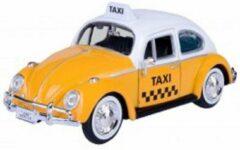 Motor Max Volkswagen Kever 1966 Taxi 1-24 Geel / Wit Motormax - Modelauto - Schaalmodel - Model auto