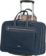 Donkerblauwe Samsonite Laptoptrolleytas - Zalia 2.0 Rolling tote 15.6 inch Midnight Blue