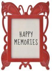 Merkloos / Sans marque Melady Fotolijst MLFF0012R 4*5 cm Rood Metaal / glas Rechthoek Fotokader Wissellijst Foto Frame