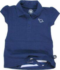 Donkerblauwe Tromper Romper polo jurkje blauw 74/80